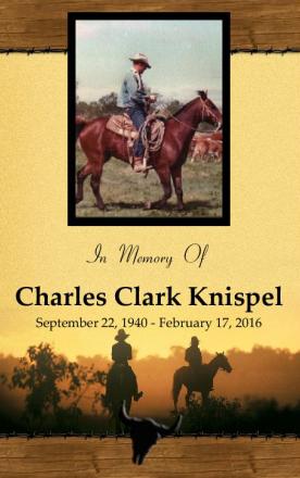 Charles Knispel Memorial Folder