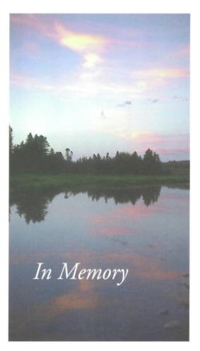 Joanne Langmaack Memorial Folder