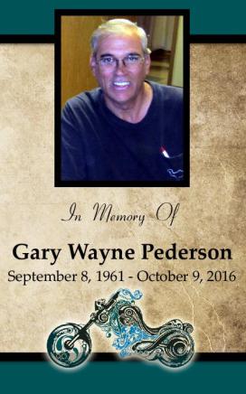 Gary Pederson Memorial Folder