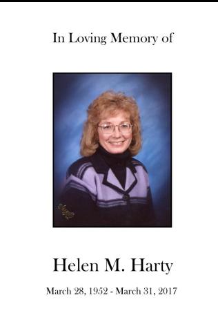 Helen Harty Memorial Folder