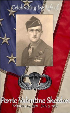 Perrie Sheldon Memorial Folder