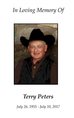 Terry Peters Memorial Folder