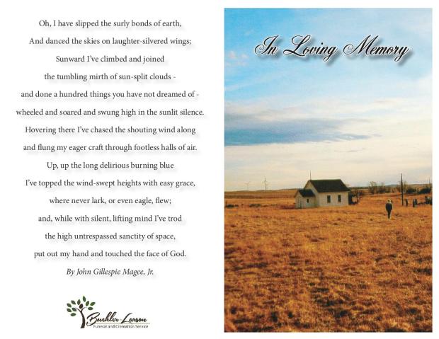 Evelyn Conitz Memorial Folder