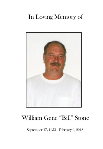 "William ""Bill"" Stone Memorial Folder"