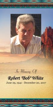 """Robert """"Bob"""" White Memorial Folder"""