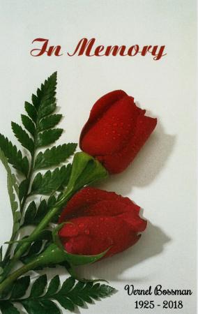 Vernel Bossman Memorial Folder