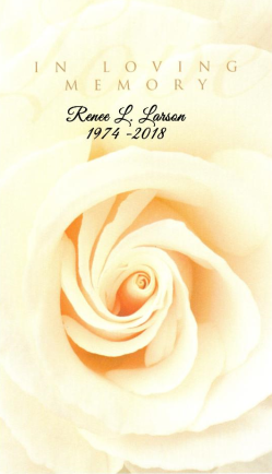 Renee Larson Memorial Folder
