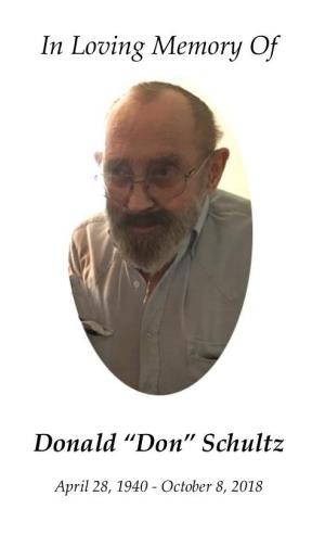 Donald Schultz Memorial Folder