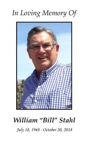 """William """"Bill"""" Stahl Memorial Folder"""