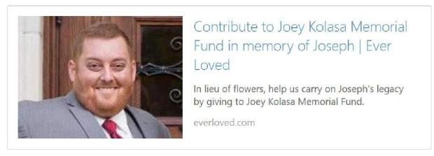 Joe Kolasa Memorial Folder