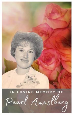 Pearl Amelsberg Memorial Folder