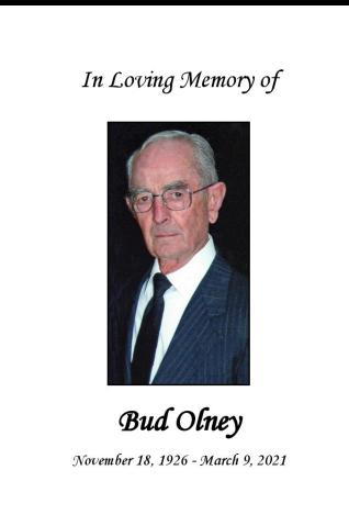 Bud  Olney Memorial Folder