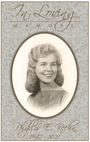 Phyllis Keehn Memorial Folder